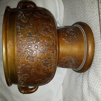 Bronze Bowl (fire Brazier ?)  Chinese/Japanese/Korean? - Asian