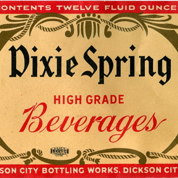 Dixie Spring Beverage Label - Bottles