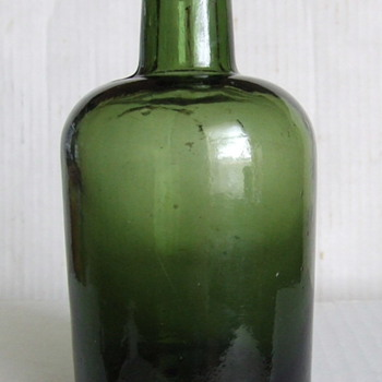 1890's dark green English ale bottle