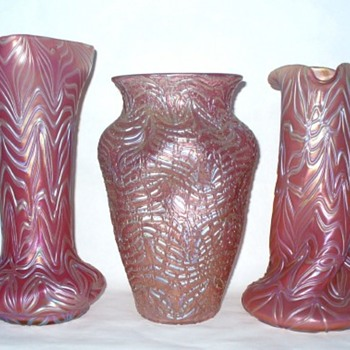Loetz Pink Glass II - Art Glass