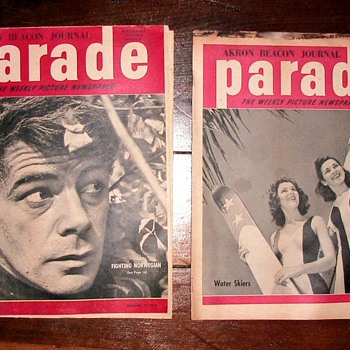 WWII Sunday Parade Magazine - Paper