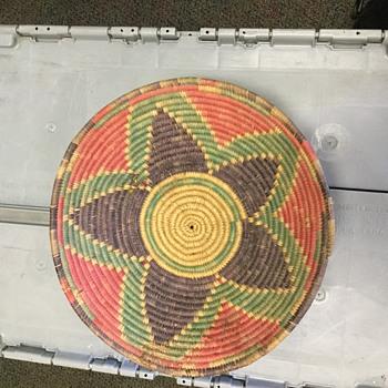 Native woven basket - Native American