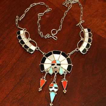 Zuni Sunface Necklace - Native American