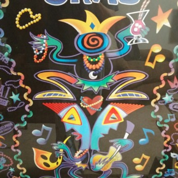 Happy Mardi Gras! (Fat Tuesday)  2005 signed Michael Miller poster. - Advertising