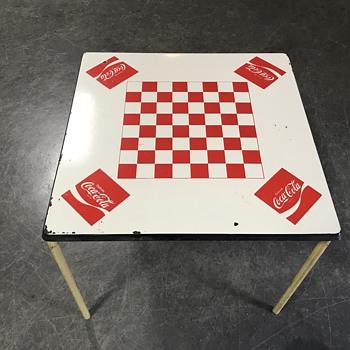 Original porcelian Coca Cola checkerboard table  - Furniture