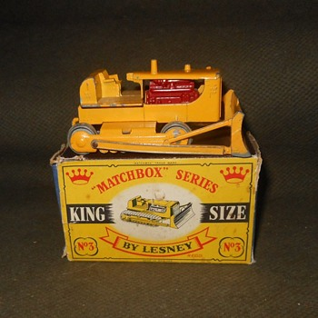 Earth Moving Massive Matchbox Monday King Size No3 CaterPillar D.9. Bulldozer 1960-1963 - Model Cars