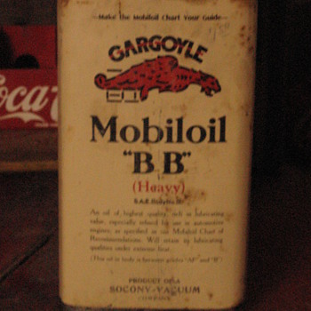 Mobil Gargoyle Can - Petroliana