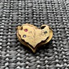 Victorian rolled gold heart brooch