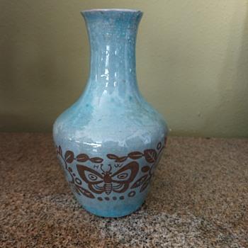 """6"""" Blue Pottery Vase - Pottery"""