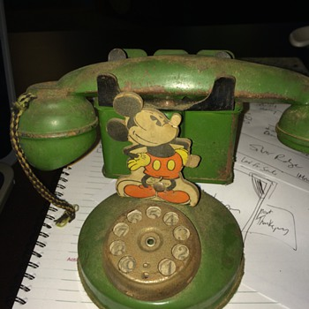 Vintage Mickey Mouse Bank shaped like a phone