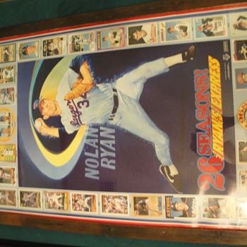 Nolan Ryan 26 Seasons Ryan Express Poster/cards