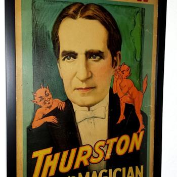 Rare Original Thurston Window Card