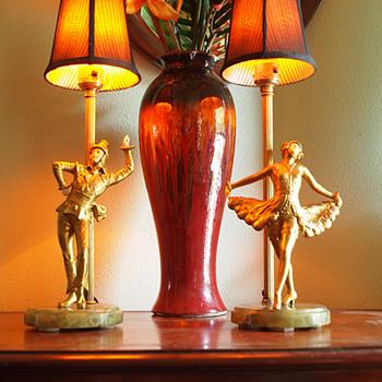 1920's German Art Deco Lamps