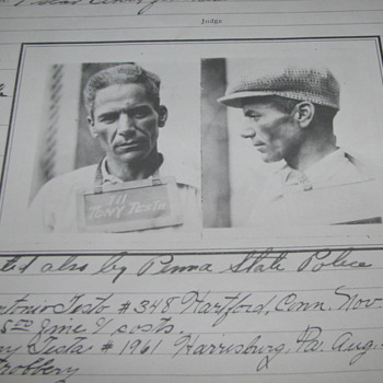 1930 Arrest Photo Copies of 2-Men Arrested, Harrisburg, PA. - Photographs