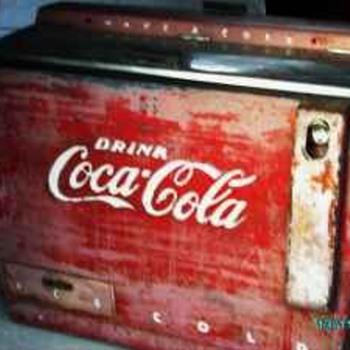 Original 1960s Coca Cola Honor system Ice Box