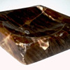 Brown Diamond Shaped Marble Ashtray