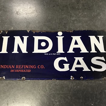 Indian oil and gas sign  - Petroliana