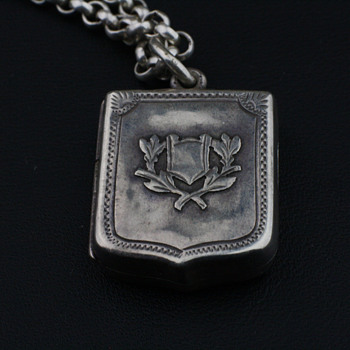 Antique English silver locket - Fine Jewelry
