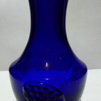 Fluted cobalt vases - Art Glass