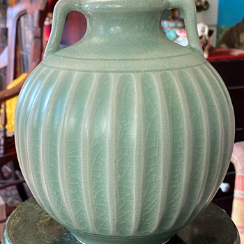 Large Celadon Amphora with handles - Pottery