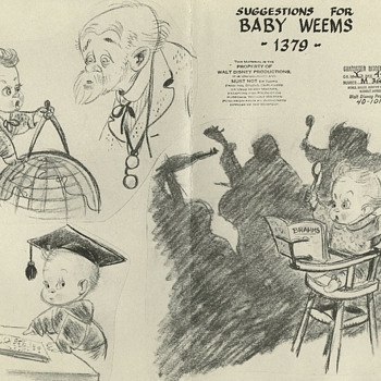 """Baby Weems' model sheet-1941"