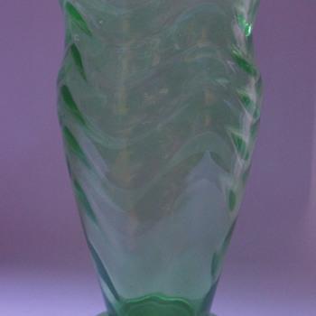 Webb Green Vase - Art Glass