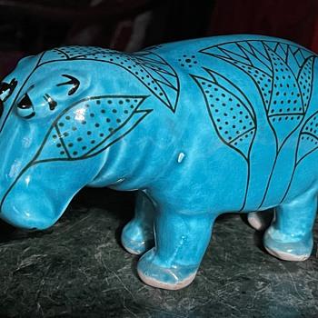 MCM Hippo - Italian - Bitossi? - Pottery