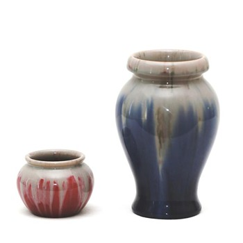 Drip Glaze Vases, Michael Andersen (Denmark), 1924 - Pottery