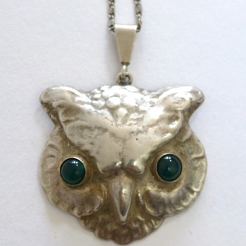 Bernhard Hertz silver owl pendant, and some more owls