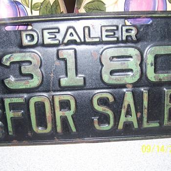 1933 Arkansas Dealer tags - Signs