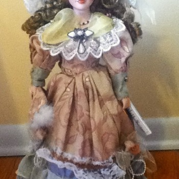 Dark Blonde Duck House Porcelain Doll - Dolls