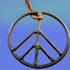 "1960's Haight Ashbury Street Vendor 3"" Peace Symbol Pendant"