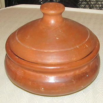 redware pottery with lid - Pottery