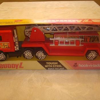 Buddy L Hook-n-Ladder Fire Truck - Model Cars