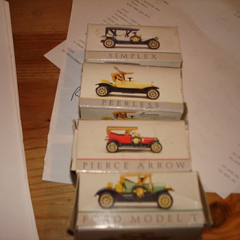Vintage Toy Cars in Boxes - Model Cars
