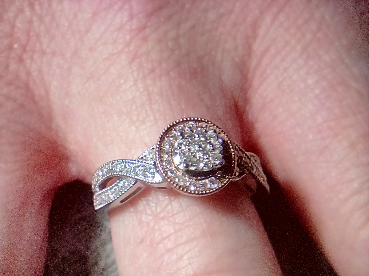 White and Rose Gold Diamond Ring | Collectors Weekly