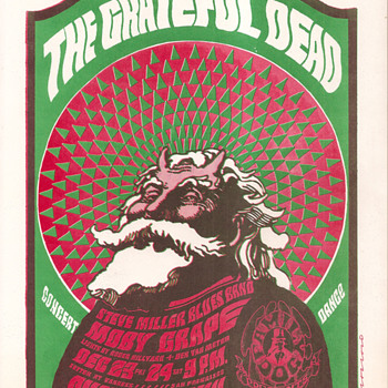 Hippie Santa Claus - Posters and Prints