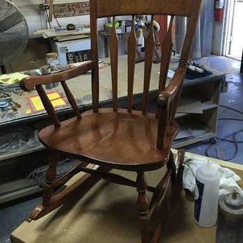 Great Grandmothers child's rocking chair. S Bent and Brothers