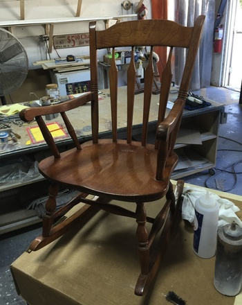 Great Grandmothers Child S Rocking Chair S Bent And