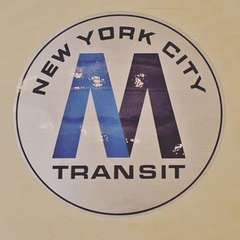 "New York City Metropolitan Transit Authority ""M"" Decal - Signs"