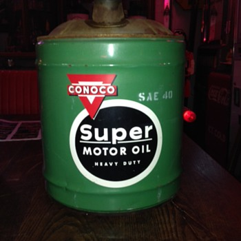 CONOCO...Super Motor Oil Five Gallon Can...SAE 40...1960's - Petroliana