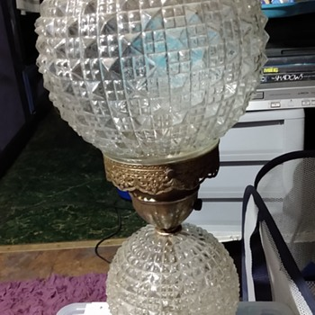 Vintage RARE 2 GLASS GLOBES LAMP - Lamps