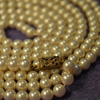 Single Strand Pearl Necklace from my Great-Grandma - Costume Jewelry