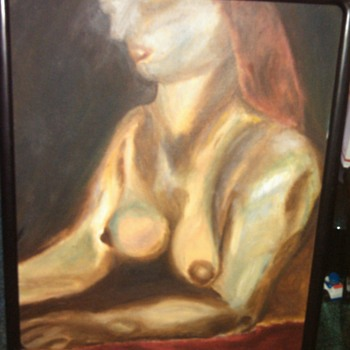 Lovely Nude Style Painting on Canvas, Need help Identifying