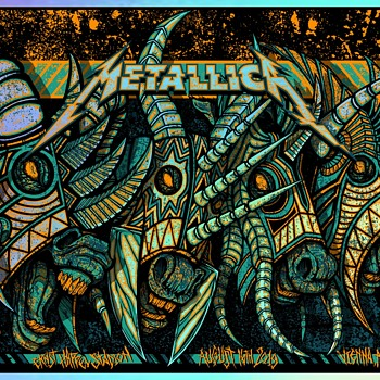 Metallica, Vienna, 8/16/19, by Brad Klausen - Posters and Prints