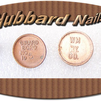 Rare Hubbard Pole Nails - Railroadiana