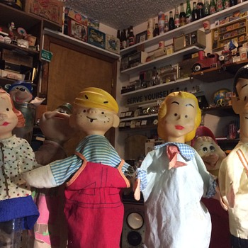 Puppets,Popeye and Scouts - Toys