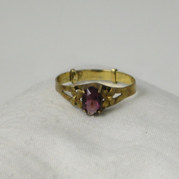Adjustable Amethyst and Gold Ring