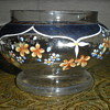 Bohemian enameled glass bowl.