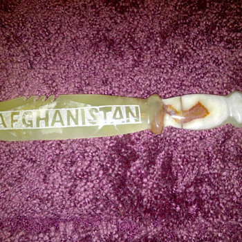 Afghanistan Knife carving made out of Marble - Folk Art